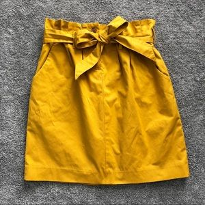 Banana Republic Mustard Yellow Skirt